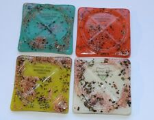 Vintage 1960s Queenstown Tasmania Alluvial Gold Colourful Acrylic Coaster Set