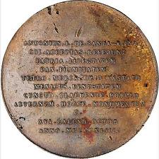 1843 MEXICO ANTONIO LOPEZ DE SANTA ANNA BRONZE MEDAL