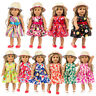 Doll straw hat pattern skirt suitable for 18 inch American girl accessories