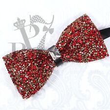 Fashion Glitter Crystal Rhinestone Pre-tied Tuxedo Bow tie Wedding Prom Party