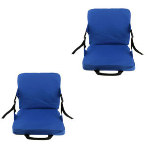 2pcs Removable Garden Rocking Chair Pads Outdoor Pool Sun Seat Soft Cushion