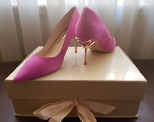 New Sophia Webster Shoes Coco Flamingo Suede Pumps