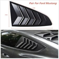 2015-2017 IKON Panel Window Side Louvers Vent 2PCS - ABS For Ford Mustang