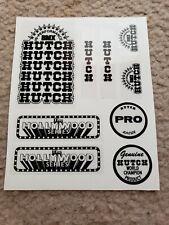 Hutch Hollywood Black on Clear Decal Sticker Old School BMX Bike Partial Set