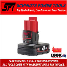 MILWAUKEE M12B4 M12 12V 4.0Ah GENUINE RED LITHIUM BATTERY 12 VOLT LI-ION AUSTOCK