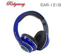 Bluetooth Stereo Headphones Built-in Microphone EAR-121B Blue Headset