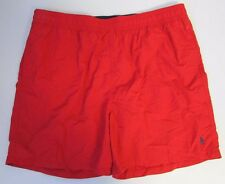 NWOT Polo Ralph Lauren Swim Shorts Trunks w/ Pony Logo Red BIG Size 1XB