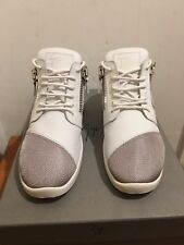 GIUSEPPE ZANOTTI Grey & White Singleg Mid Top Trainers Sneakers UK 6/EU 40 £500