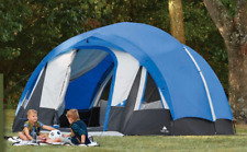 10-Person Blue/White Freestanding Tunnel Tent W/ Multi-Position Fly Hike Camping