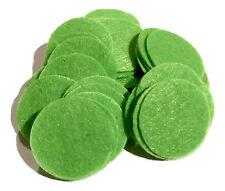 "1"" lime green felt circles / 25 pieces"