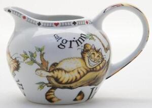 New boxed Paul Cardew Alice in Wonderland cat creamer milk jug