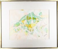 """Untitled (Abstract Watercolor) by Paul Rivas, Signed & Framed, 28.5"""" x 34.5"""""""