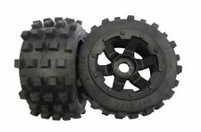 1/5 RC Baja 5b Rear MX Knobby Tyres on Black Rims Fit HPI Rovan King Motor 85038