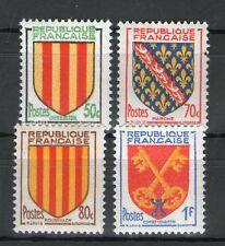 TIMBRES N° 1044-1047 NEUF * * GOMME ORIGINALE -  SERIE D'ARMOIRIES DE PROVINCES