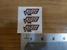 Klotz Synthetics 3 sheet Sticker Decal