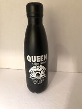 Queen with Adam Lambert Vip Metal Black Water Bottle-New
