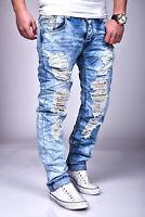 Destroyed Biker Jeans Justing Stonewashed Denim Skinny 08 Men Pants John Kayna