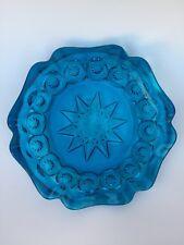 "Large Vintage Star Cobalt Blue Retro Style Cigar Ashtray / Candy Dish 8"" X 2"""