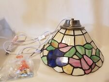 Tiffany Style Stained Glass Pin Up Wall Sconce Lighting Fixture Prestigeline