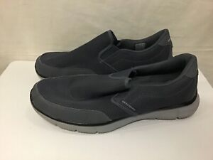 Skechers Men's Trainers Memory Foam Shoes Grey Slip On GOOD CONDITION Size 9