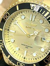 Invicta Men's Watch 30025 Pro Diver Quartz Gold Tone Dial Stainless Steel 43mm
