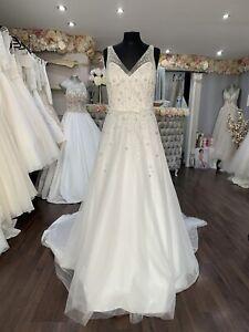 White Rose A Line Wedding Dress Uk 16