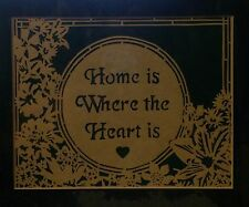 Home is Where the Heart is Papercutting/Scherenschnitte