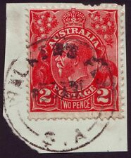 "SOUTH AUSTRALIA POSTMARK ""WALKER'S FLAT"" ON 2d RED KGV DATED 1931 (A2006A)"