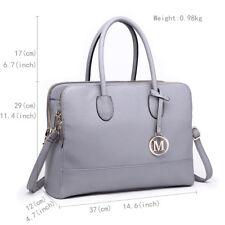 c899bd5d806a Women Designer PU Leather Handbag Structured Tote Shoulder Bag Grey