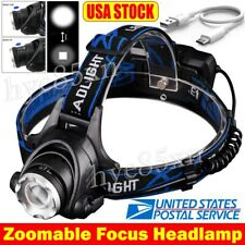 Rechargeable Tactical 350000LM Head Torch T6 LED Headlamp 18*65*0 Headlight Lamp