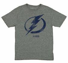 "CCM NHL Men's Tampa Bay Lightning Premium Tri-Blend ""Bigger Logo"" Retro T-Shirt"