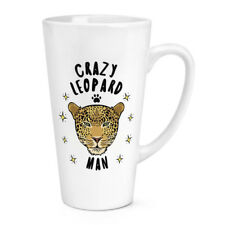 PAZZO LEOPARDO MAN 483ml GRANDE latte tazza - divertente animale gatto
