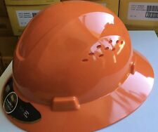 Hdpe Orange Full Brim Hard Hat With Fas Trac Suspension