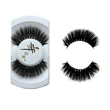Black Luxurious 100% Real Mink Natural Thick Eye Lashes False Eyelashes Y-6 BT