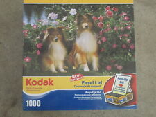 KEEBLER AND KYLA - Kodak Mega - 1000 piece puzzle DOGS COLLIES -  NIB