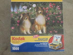 KEEBLER AND KYLA - Kodak Mega - 1000 piece puzzle DOGS COLLIES -  NIB