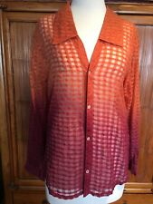 Tigerlily Button Up Orange and Burgendy Blouse Size 10