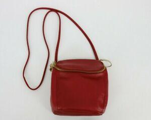 Hobo Stream Top Grain Leather Convertible Backpack Crossbody Bag Scarlet Red
