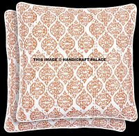 2 PC Indian Kantha Cushion Cover Abstract Design Vintage Cotton Throw Decor 16""