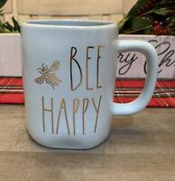 Rae Dunn By Magenta - LL BEE HAPPY 🐝 - BLUE Ceramic Coffee Mug