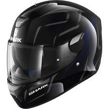 Shark Skwal Flynn Motorcycle Helmet Black / Blue X-Large 61-62 cm RRP $399.00