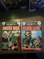 Secrets Of Sinister House 2 BOOK LOT #17,18 DC Comics 1974 FN-VF Bronze Horror