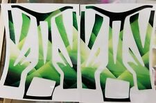 RTR Cheetah Aeolos chassis decals-Green Geometric