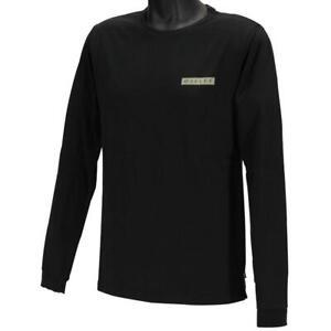 Oakley Harry Long Sleeve Tee Mens Size L Large Jet Black Cotton Logo T-Shirt