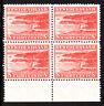 Newfoundland 1941-44 SG282 8c. Rose-Red Marginal Blk of 4 MNH stamps