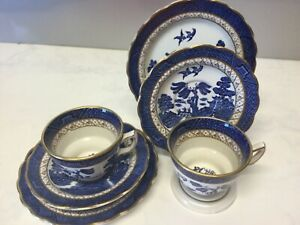 BOOTHS TRIOS BY TWO REAL OLD WILLOW PATTERN A8025