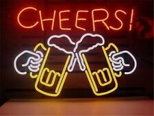 "New Cheers Beer Pub Bar Store Restaurant Real Glass Neon Sign 20""x16"" PU17M"