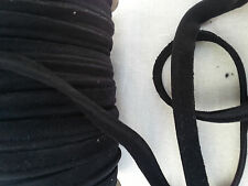 2M Black Insertion Cord Flanged Rope Piping Upholstery Sewing Faux Suede 8mm