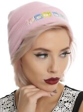 Melanie Martinez Cry Baby Blocks Pink Beanie Watchman Knit Hat NWT!