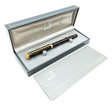 More details for dunhill gemline tortoiseshell lacque fountain pen 14k gold broad nib